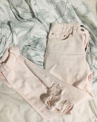Baby pink mom jeans