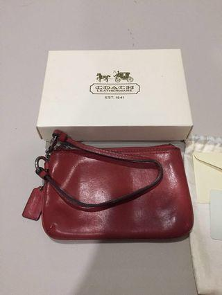 Coach Small Wristlet (red) authentic. No fake