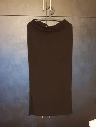 Dorothy Perkins Maternity long black skirt UK10