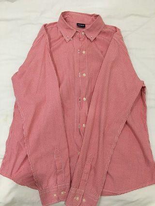 Uniqlo long shirt - Red plaid
