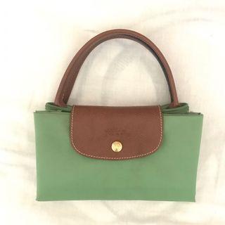 Longchamp Bag warna hijau muda