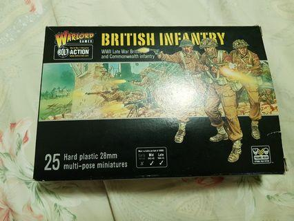 28mm (About 1/72) New Bolt Action Late War British Soldiers Set