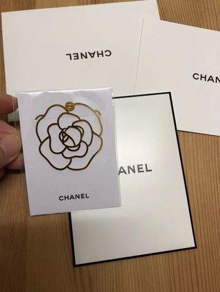 Chanel camellia flower bookmark gold
