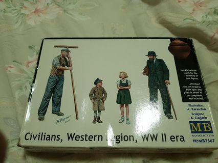1/35 New WW2 Era Civilians