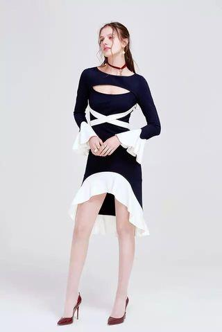 Asilio black white dress