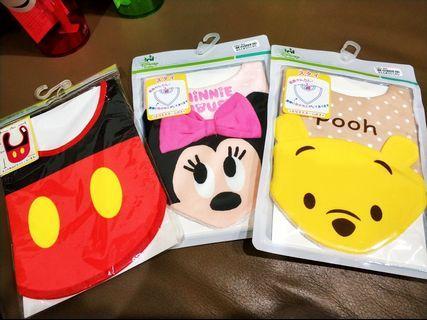 🚚 Disney 嬰兒領巾 3件一起賣