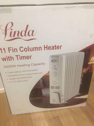 11 fins heater as new