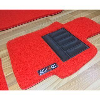 MITSUBISHI LANCER EX OEM FITMENT PVC COIL FLOOR MAT WITH RALLIART LOGO 3 PCS COLOR AVAILABLE - RED, BLACK ,GREY ,BEIGE ,BROWN GREEN & BLUE...