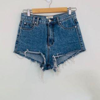 Insight denim hi waisted short