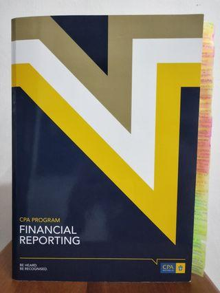 CPA Australia Financial Reporting textbook