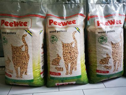 🚚 Peewee Wood pellets Cat litter 9kg / 14litres