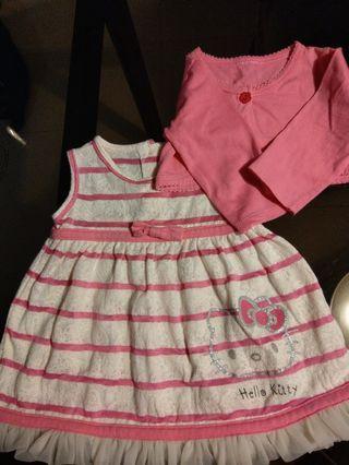 Hello Kitty dress with cardigan