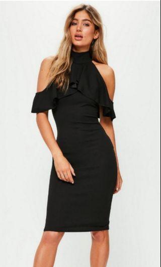 Missguided High Neck Cold Shoulder Dress