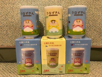 白蘭氏全港獨有限量禮品茶杯一套三隻 Brands gift tea cups set
