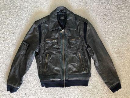 D&G men's vintage leather