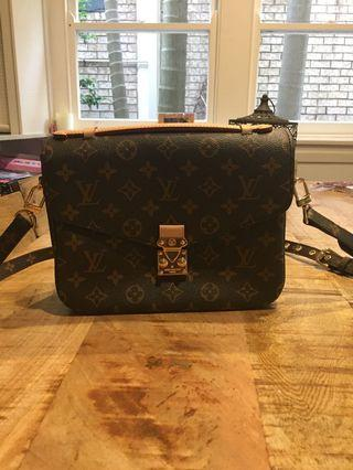 LV beige Crossbody bag...100% Genuine Leather...See pics