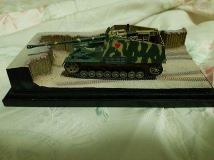 About 1/72 Per Build and Painted WW2 Tank with a Trench