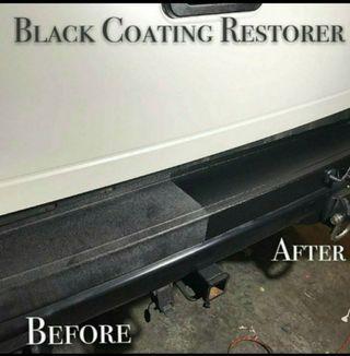 Black Coating Restorer for all Exterior plastic, Vinyl and Rubber Trim