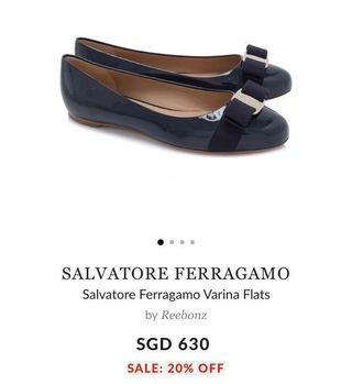 BNIB AUTHENTIC Salvatore Ferragamo Varina Flats