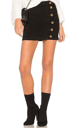 🚚 Free People Button Down Daisy Denim High Waist Mini Skirt