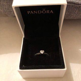 Pandora   Sweet Heart Zirconia & Silver Ring