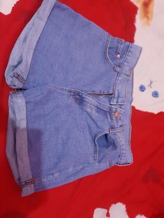 Celana pendek jeans dark blue