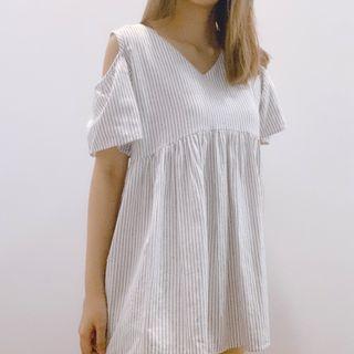 Cold Shoulder Babydoll Top/Dress
