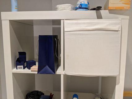 White foldable storage boxes