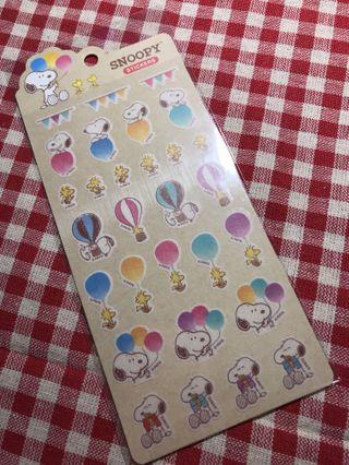 Only 1 Instocks! *(Mix &Match) Peanuts Snoopy Stickers Sheet