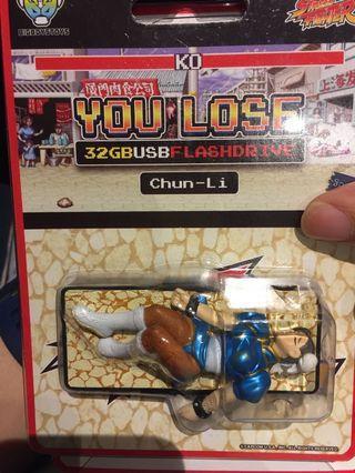 Street fighter 街頭霸王 街霸 春麗 You loss chun-Li Chun li flashdrive flash drives 手指 usb 32Gb