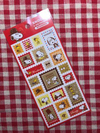 Only 2 Instocks! *(Mix & Match) Peanuts Snoopy & His Friends Stickers Sheet (Stamp)
