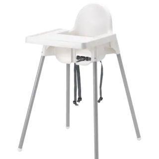 IKEA baby high chair feeding