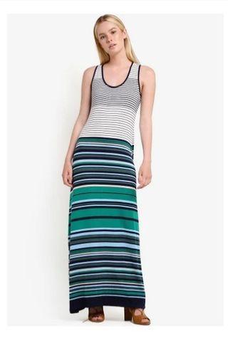 條紋合身高挑洋裝