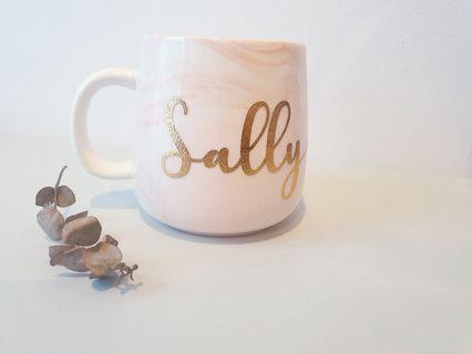 Customised personalised name marble cup mug gift ideas