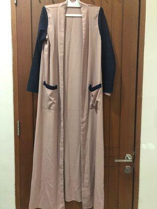 Long outer dusty pink navy