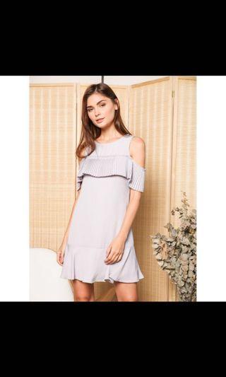 BN TSW Perla Cold Shoulder Pleats Dress