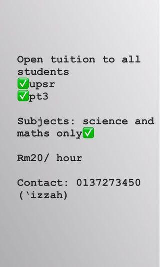 Tuition murah rm10