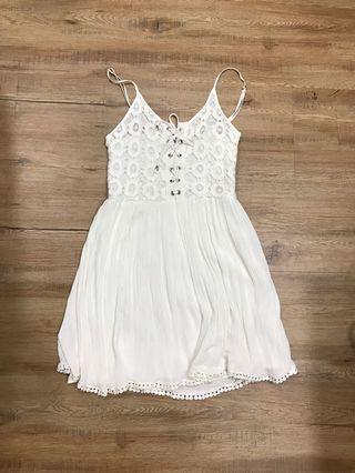 F21 white sundress