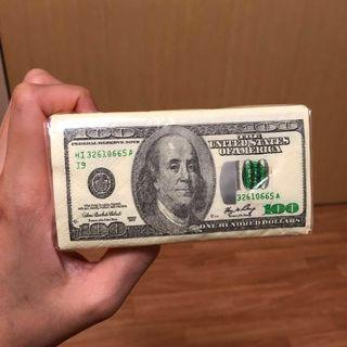 USA American Money Gimmicky Tissue Pack