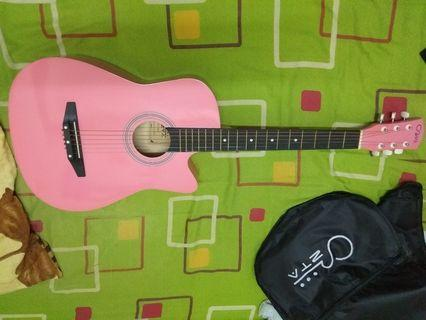Pink Acoustic Guitar 38 inch