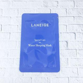 Laneige Water Sleeping Mask Sample sheet