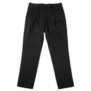 Plain me 純棉斜紋打摺長褲 黑色M號 COP1604 Plain-me 版型同1616