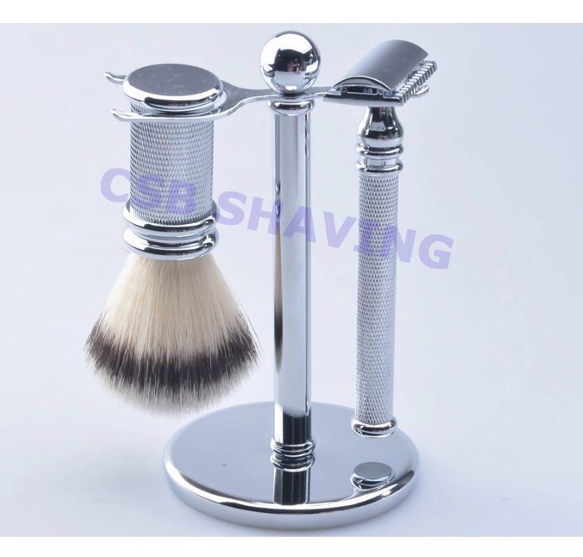 20mm Synthetic Fiber Hair Shaving Brush Razor Set