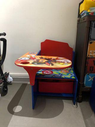 🚚 Preloved Paw Patrol Chair with Table and Storage