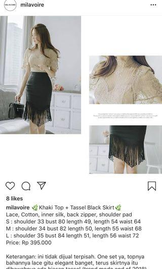 One set tazel top and skirt
