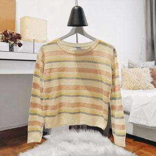 Cropped Stripes Sweater