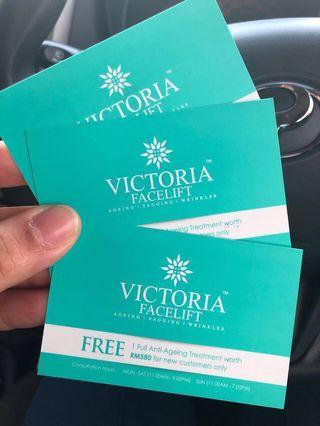 Facial anti aging free voucher
