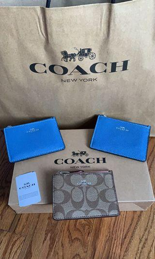 Coach coins and cardholders