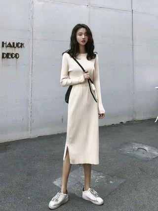 BN Knit beige Dress