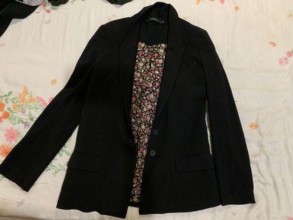 Brand new black blazer with floral detail